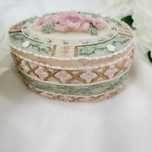 Storage & Organization - Vintage Hand Painted Ceramic Jewelry Box